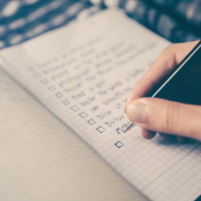 storing gold checklist