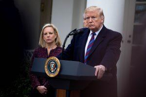 tump speaking outside the whitehouse